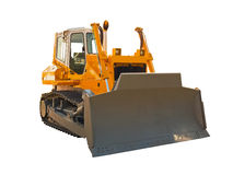 kraftig bulldozer Arkivfoto