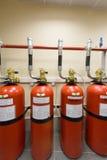Kraftig industriell brand - släckningssystem. Royaltyfria Bilder
