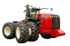 Kraftig jordbruks- traktor Royaltyfria Bilder