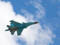 Kraftig kämpe-bombplan Su-34 Arkivfoto