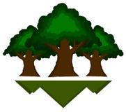 kraftiga trees stock illustrationer