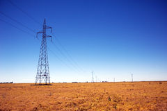 Kraftledningar i Australien Arkivfoton