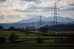 Kraftledningar Paisley, Skottland, UK Arkivbilder