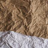 Kraftpapier-document en millimeterpapiertextuur Royalty-vrije Stock Afbeeldingen