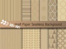 Kraftpapier-document naadloze achtergrond Stock Foto