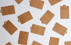 Kraftpapier-giftmarkeringen royalty-vrije stock foto's