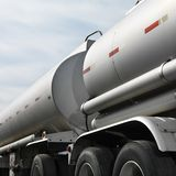 Kraftstoff-LKW Lizenzfreie Stockfotos