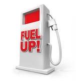 Kraftstoff-oben - Benzin-Pumpe für Betankung lizenzfreie abbildung