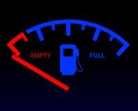 Kraftstoffanzeige Stockbild