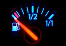Kraftstoffanzeige Stockfotografie