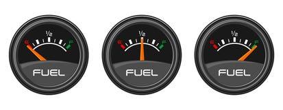 Kraftstoffanzeigen Stockfotos