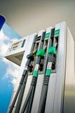 Kraftstoffanzeigetafel Stockfoto