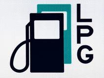 Kraftstoffpiktogramm Stockfotos