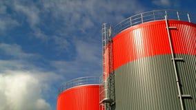 Kraftstoffvorrat-Behälter-Zeitspanne stock footage