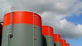 Kraftstoffvorrat-Behälter-Zeitspanne stock video