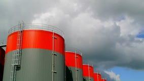 Kraftstoffvorrat-Behälter-Zeitspanne stock video footage