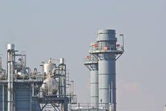 Kraftverk för kombinerad cirkulering för naturgas royaltyfri bild
