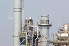 Kraftverk för kombinerad cirkulering för naturgas arkivbild