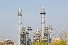 Kraftverk för kombinerad cirkulering för naturgas arkivbilder
