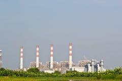 Kraftverk för kombinerad cirkulering för naturgas fotografering för bildbyråer