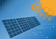 Kraftverk 01 för sol- cell vektor illustrationer