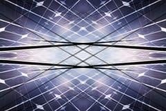 Kraftverk genom att använda förnybar sol- energi Arkivbild