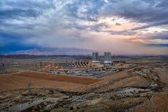 Kraftverk i söderna av Iran som tas i Januari 2019 som tas i hdr fotografering för bildbyråer