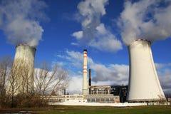 Kraftverk Zaluzi, Litvinov - Tjeckien Royaltyfri Bild