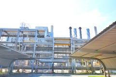 Kraftverket är var att producera en elektricitet Arkivbild