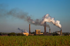 Kraftwerk in der Zuckerrohrplantage Stockfoto