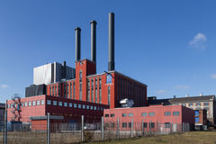 Kraftwerk in Kopenhagen, Dänemark Stockbild