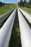 Kraftwerk Penstocks Lizenzfreie Stockbilder