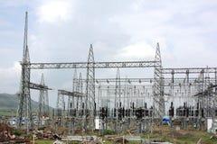 Kraftwerk-Rasterfeld stockfoto