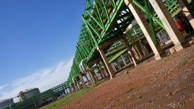 Kraftwerk-Rohr-Stahlkonstruktion Stockfoto