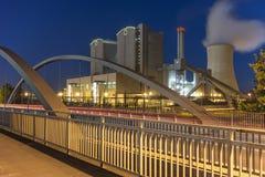 Kraftwerk Stoecken durch Hannover in Deutschland Lizenzfreie Stockbilder