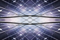 Kraftwerk unter Verwendung der auswechselbaren Solarenergie Stockfotografie