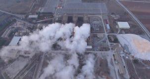 Kraftwerke und raucht stock footage