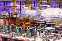 Kraftwerkinnenraum Stockbilder