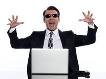 krage som beräknar brotts- hackermanwhite Arkivfoton