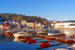 Kragero harbour in Norway Royalty Free Stock Image