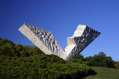 kragujevac纪念碑v3 免版税库存照片