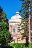 Kragujevac, Serbia - July 18, 2016: Stara Livnica district, Zastava old Abandoned Zastava factory in Kragujevac, Serbia. Wonderful. Building with old clock royalty free stock images