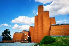 Kragujevac, Serbia - 17 Lipiec, 2016: Pamiątkowy muzeum 21 Październik w Kragujevac i park, Serbia fotografia royalty free