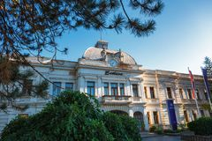 Kragujevac Serbia, Lipiec, - 18, 2016: Stara Livnica okręg, Zastava Zastava stara Zaniechana fabryka w Kragujevac, Serbia cudowny zdjęcia royalty free