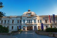 Kragujevac Serbia, Lipiec, - 18, 2016: Stara Livnica okręg, Zastava Zastava stara Zaniechana fabryka w Kragujevac, Serbia cudowny zdjęcie royalty free