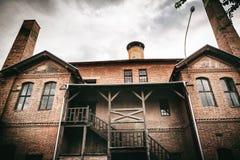 Kragujevac Serbien - Juli 18, 2016: Museet av Stara Livnica, lokaliserar nära gammal fabrik i Kragujevac, Serbien Underbar byggna Royaltyfria Foton