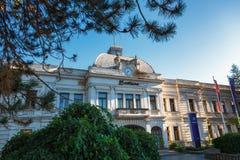 Kragujevac, Servië - Juli 18, 2016: Het district van Staralivnica, de oude Verlaten Zastava fabriek van Zastava in Kragujevac, Se royalty-vrije stock foto's