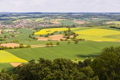Kraichgau Baden-Wuerttemberg, Tyskland Royaltyfri Fotografi