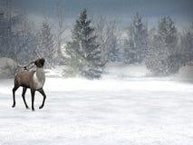 krainy czarów swiat zimę ilustracja wektor