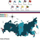Krais de la Russie Images libres de droits
